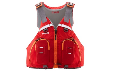 NRS Cvest buoyancy aid pfd with high back and plenty of pockets perfect for canoeing with an Enigma Canoe