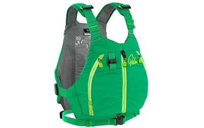 Palm Peyto Buoyancy Aid PFD perfect for canoeing in an enigma canoe available in 2 colours blue or green
