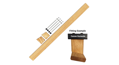 Wooden Oiled Open Canoe Kneeling Thwart For Enigma Canoes Including Dropper Hanging Kit