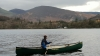 Enigma Canoes Prospector 16 Solo Paddling On A Calm Lake