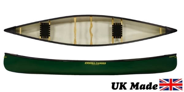 Enigma Canoes Prospector 16 tandem open canoe the most versatile canoe hull shape on the market, perfect for solo or tandem paddling