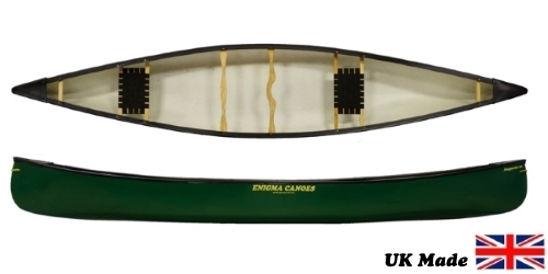 The Enigma Canoes Prospector 16 Open Canoe perfect for a range of waters and perfect for solo on tandem paddling