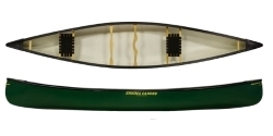 Enigma Canoes most versatile canoe the Prospector 16 perfect for flat water or white water and can be paddled solo or tandem