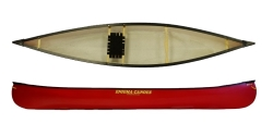 Enigma Canoes Solo Open Canadian Canoe perfect for flat water touring paddling on lakes, rivers and calm fresh waters
